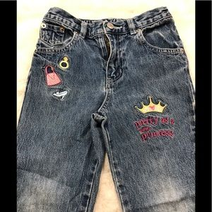 Disney denim jeans with cute patches